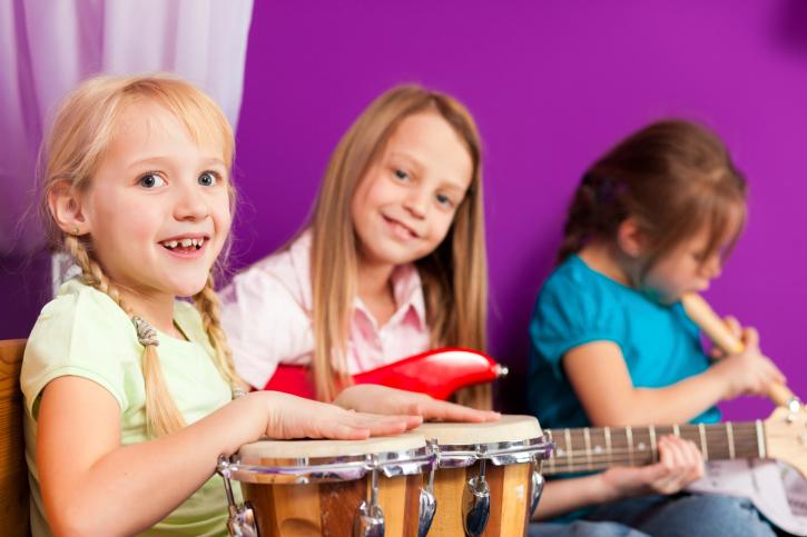 фото детей с музыкальными инструментами в детском саду